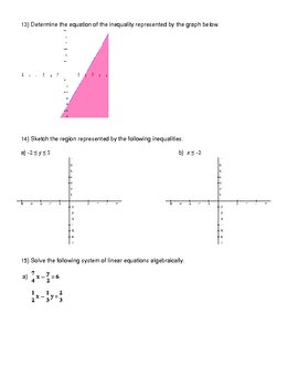Solving Systems of Equations Review/Test