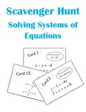 Solving Systems of Equations Scavenger Hunt Activity