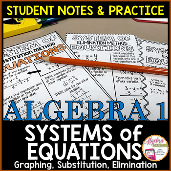 Systems of Equations Student Notes and Practice
