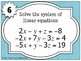 Solving Systems of Equations Task Cards
