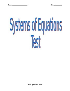 Solving Systems of Equations Test