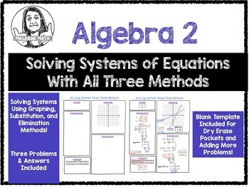 Solving Systems of Equations Using All Three Methods!