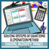 Solving Systems of Equations Using Elimination Activity Pa