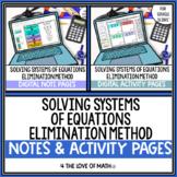 Solving Systems of Equations Using Elimination Digital Bun
