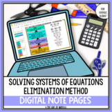 Solving Systems of Equations Using Elimination Digital Not