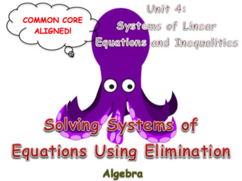 Solving Systems of Equations Using Elimination (Multiplication)