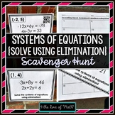 Solving Systems of Equations Using Elimination: Scavenger Hunt