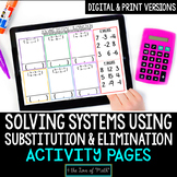 Solving Systems of Equations Using Substitution and Elimin