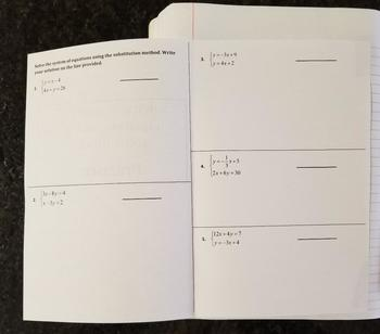 Solving Systems of Equations Using the Substitution Method