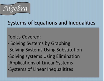 Solving Systems of Equations and Inequalities Guided Notes, Powerpoint, HW Inclu