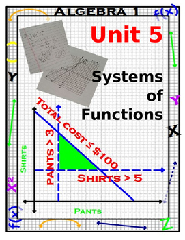 Algebra 1 - Systems of Equations and Inequalities - Complete Unit