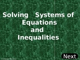 Solving Systems of Equations and Inequalities (PowerPoint