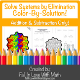 Solving Systems of Equations by Elimination (Add/Subtract)