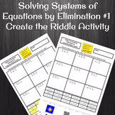 Solving Systems of Equations by Elimination Create a Riddl