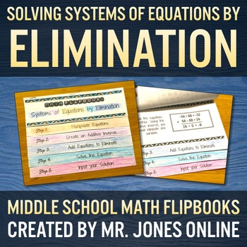Solving Systems of Equations by Elimination Flip Book
