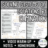 Solving Systems of Equations by Elimination Lesson