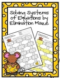 Solving Systems of Equations by Elimination Maze