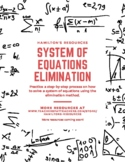 Solving Systems of Equations by Elimination Method (Simple)