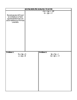 Solving Systems of Equations by Elimination Notes