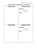 Solving Systems of Equations by Elimination With Manipulatives