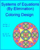 Solving Systems of Equations by Eliminations - Coloring Activity