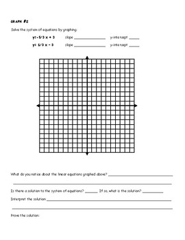 Solving Systems of Equations by Graphing, 4 pack
