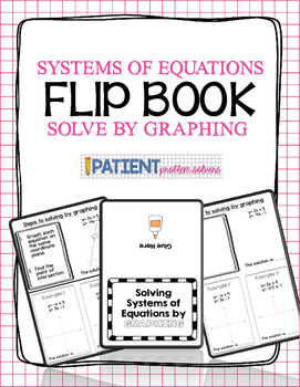 Solving Systems of Equations by Graphing Flipbook for ISN