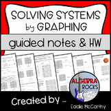 Solving Systems of Equations by Graphing - Guided Notes and Homework