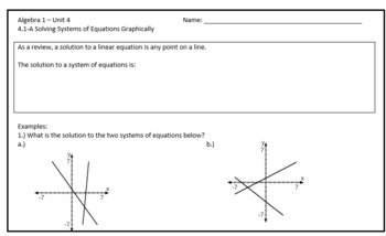 Solving Systems of Equations by Graphing Lesson Plan Bundle