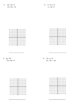 Solving Systems of Equations by Graphing - Notes
