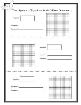 Solving Systems of Equations by Graphing - Christmas Math Activity