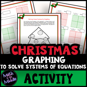 Solving Systems Of Equations By Graphing Christmas Math Activity