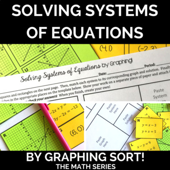 Solving Systems of Equations by Graphing - Sort!