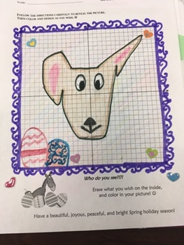 Solving Systems of Equations by Graphing Spring Easter Fun Cute Project Activity