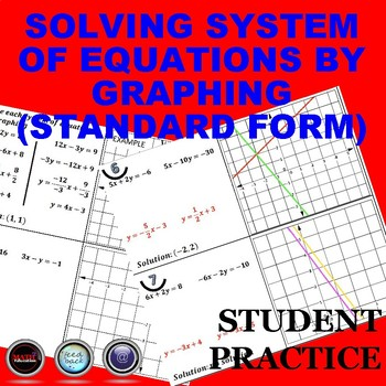 Solving System of Equations by Graphing Standard Form Student Practice