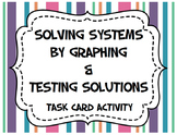 Solving Systems of Equations by Graphing (Task Cards)