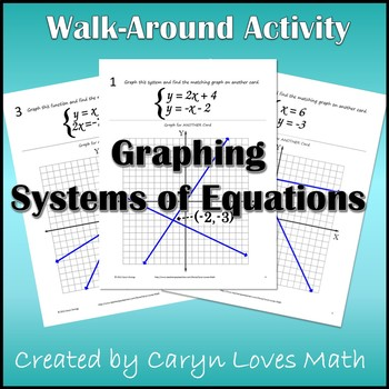 Solving Systems of Equations by Graphing Walk-around Activity ...