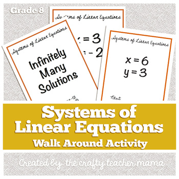 Solving Systems of Equations by Graphing_Movement Activity