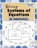 Solving Systems of Equations by Substitution Activity