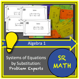 Solving Systems of Equations by Substitution Activity:  Problem Experts