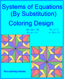 Systems of Equations by Substitution - Coloring Activity