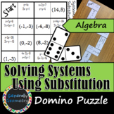 Solving Systems of Equations by Substitution Domino Puzzle