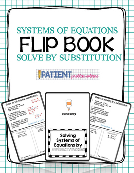 Solving Systems of Equations by Substitution Flipbook for ISN