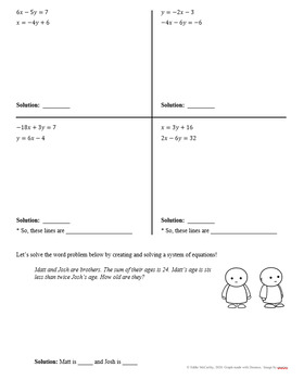 Solving Systems of Equations by Substitution (Guided Notes and Assessments)