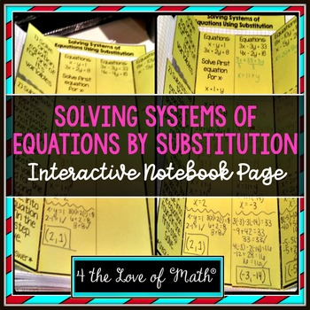 Solving Systems of Equations by Substitution: Interactive
