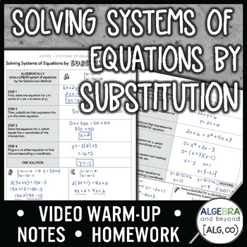 Solving Systems of Equations by Substitution Lesson