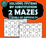 INB ACTIVITY MAZES - Algebra - Solving Systems by Substitution