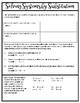 Solving Systems of Equations by Substitution Notes and Homework