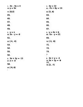 Solving Systems of Equations by Substitution Quiz