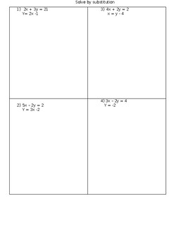 Solving Systems of Equations by Substitution or Elimination